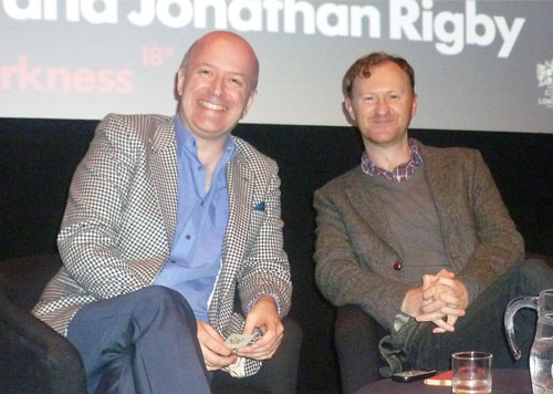 Rigby and Gatiss at the Barbican Event